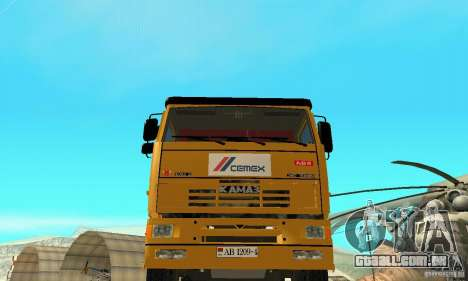 KAMAZ 53215 Tai Liebherr v 1.1 para GTA San Andreas vista direita