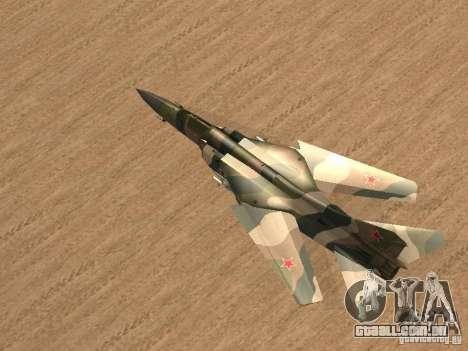 Mikoyan-Gurevich Mig-23 para GTA San Andreas esquerda vista