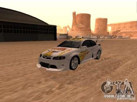 Vauxhall Monaro para as rodas de GTA San Andreas