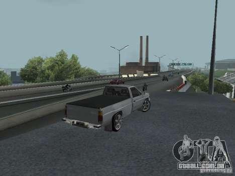 Nissan Pick-up D21 para GTA San Andreas vista traseira