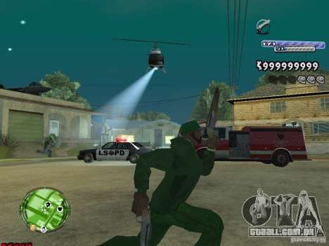 C-HUD v2.0 para GTA San Andreas por diante tela