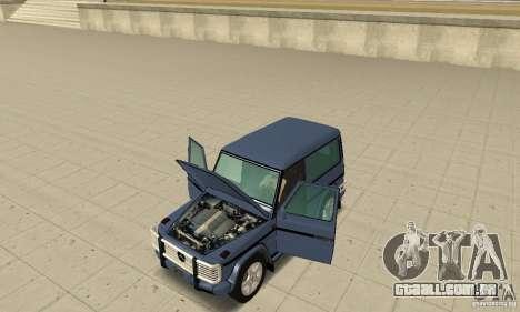 Mercedes-Benz G500 1999 Short [with kangoo v2] para GTA San Andreas vista traseira