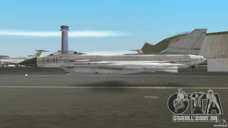 J-10 para GTA Vice City vista traseira esquerda