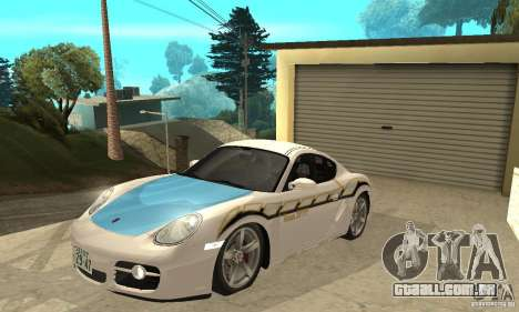 Porsche Cayman S para GTA San Andreas vista inferior
