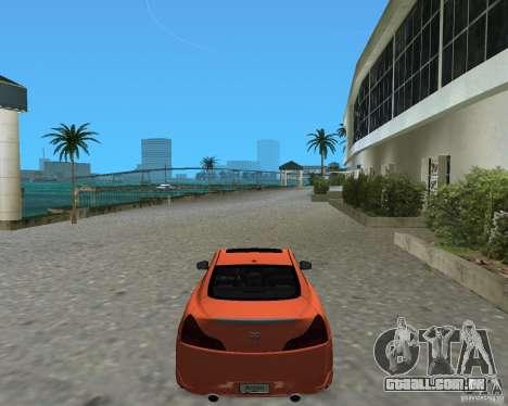 Infinity G37 para GTA Vice City deixou vista