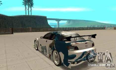Mazda RX-8 NFS ProStreet para GTA San Andreas traseira esquerda vista