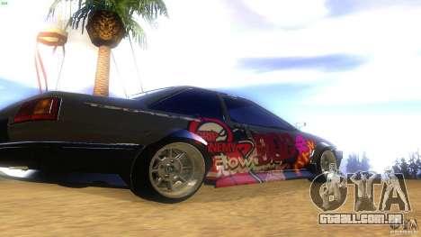Toyota AE86 Coupe - Final para GTA San Andreas traseira esquerda vista