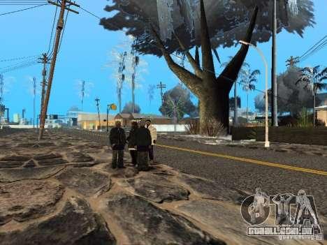 Véspera de ano novo no Grove Street para GTA San Andreas sexta tela