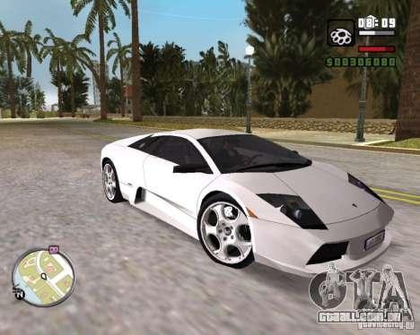Lamborghini Murcielago V12 6,2L para GTA Vice City vista direita