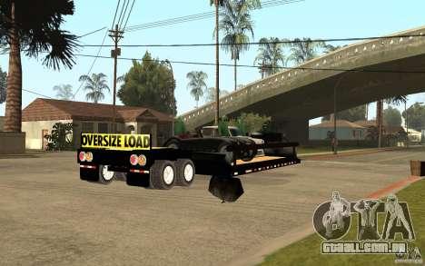 Trailer lowboy transport para GTA San Andreas vista direita