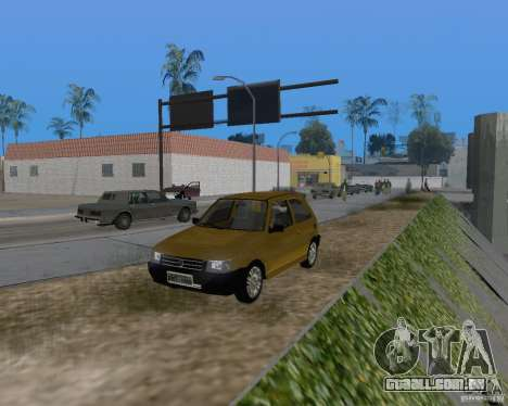 Fiat Mille Fire 1.0 2006 para vista lateral GTA San Andreas