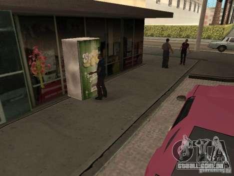 Espaço animado v 1.0 para GTA San Andreas por diante tela