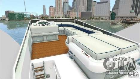 Luxury Yacht para GTA 4 vista direita