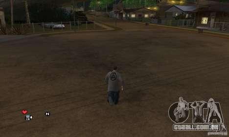 Beta v 0.1 de camisola Linkin Park para GTA San Andreas segunda tela
