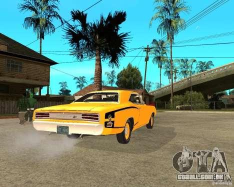 Dodge Coronet Super Bee 70 para GTA San Andreas traseira esquerda vista