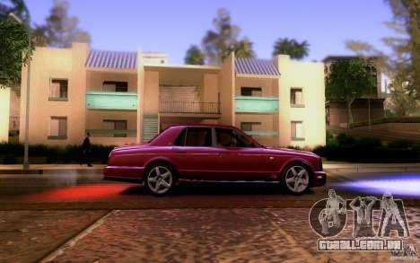 Bentley Arnage para GTA San Andreas vista interior