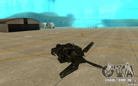 O serviço de transporte do jogo Aliens vs Predat para GTA San Andreas vista direita