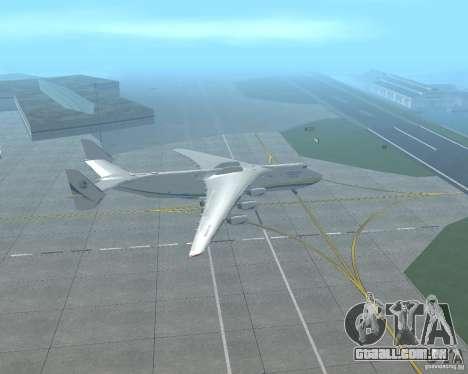 O an-225 Mriya para GTA San Andreas esquerda vista