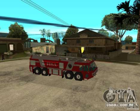 Rosenbauer Simba 8x8 GFLF FDSA para GTA San Andreas vista direita