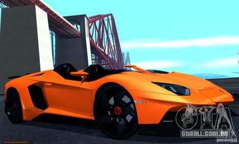 Lamborghini Aventador J para GTA San Andreas traseira esquerda vista