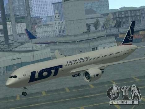 Boeing 787-9 LOT Polish Airlines para o motor de GTA San Andreas