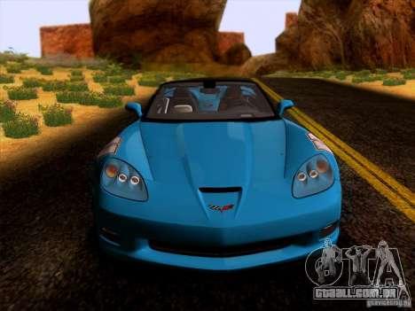 Chevrolet Corvette C6 Convertible 2010 para GTA San Andreas esquerda vista