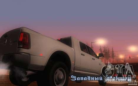 Dodge Ram 3500 Laramie 2010 para GTA San Andreas vista direita