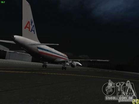 Airbus A320 para GTA San Andreas vista traseira