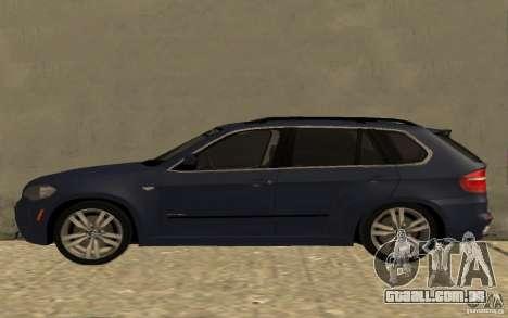 BMW X5 M 2009 para GTA San Andreas esquerda vista