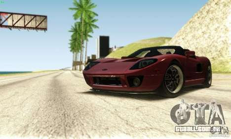 Ford GTX1 Roadster V1.0 para GTA San Andreas vista superior
