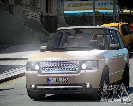 Land Rover SuperSharged para GTA 4 esquerda vista