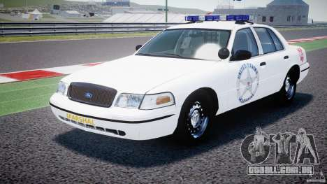 Ford Crown Victoria US Marshal [ELS] para GTA 4