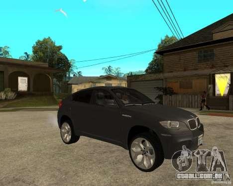 BMW X6 M para GTA San Andreas vista direita