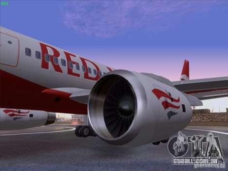 Tupolev Tu-204 Red Wings Airlines para GTA San Andreas vista direita