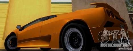 Lamborghini Diablo VTTT Black Revel para GTA San Andreas traseira esquerda vista