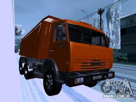 KAMAZ 54115 caminhão para GTA San Andreas vista traseira