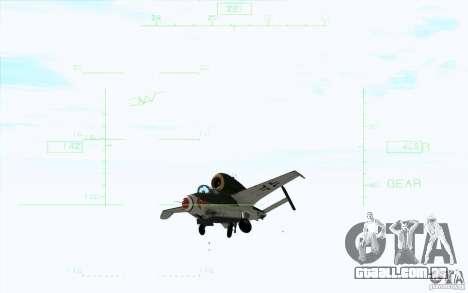 Henkel 162A Salamander para GTA San Andreas vista direita