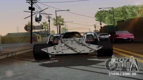 Virar para fora do carro de Furious 6 para GTA San Andreas vista traseira