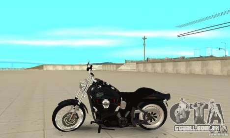 Harley Davidson FXSTBi Night Train para GTA San Andreas esquerda vista