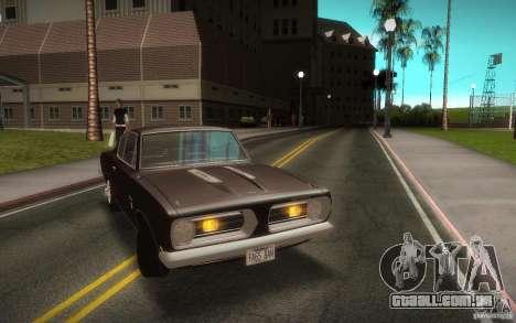 Plymouth Barracuda Formula S para GTA San Andreas vista direita