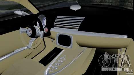 Holden Efijy Concept para GTA 4 vista interior