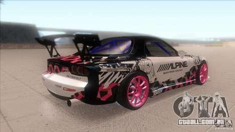 Mazda RX-7 FD K.Terej para GTA San Andreas vista direita