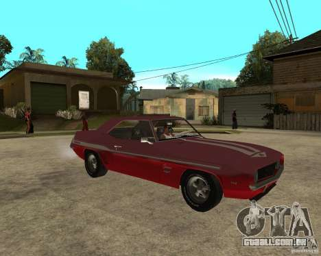 1969 Yenko Chevrolet Camaro para GTA San Andreas vista direita