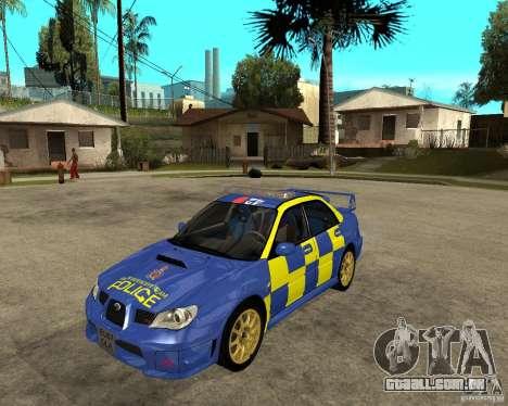 Subaru Impreza STi police para GTA San Andreas