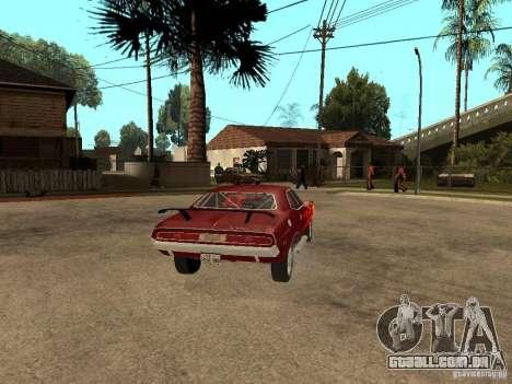 Dodge Challenger Tuning para GTA San Andreas traseira esquerda vista