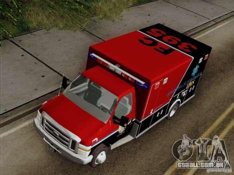 Ford E-350 AMR. Bone County Ambulance para GTA San Andreas vista traseira