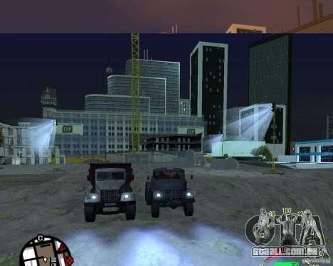 Caminhão de descarga KrAZ-256 para GTA San Andreas vista direita