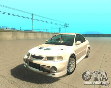 Mitsubishi Lancer Evolution VI 1999 Tunable para GTA San Andreas vista direita