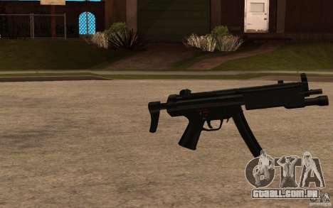 Nova MP5 com lanterna para GTA San Andreas segunda tela