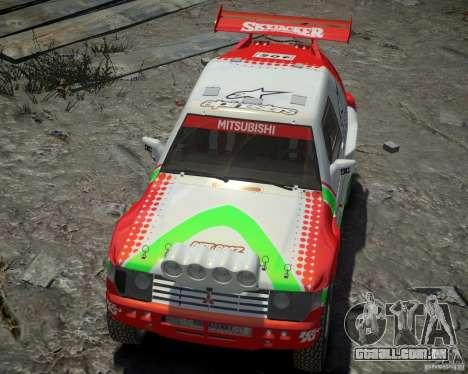 Mitsubishi Pajero Proto Dakar EK86 vinil 2 para GTA 4 vista lateral
